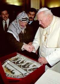 pope & murderer arafat