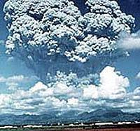 violent volcanic eruption explosion